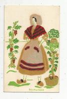 Cp, Tissus , Velours , Folklore, COSTUMES REGIONAUX , BOURGOGNE , écrite 1960 , Ed. Gautier - Cartes Postales