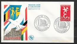 FDC Lettre Premier Jour Cachet Strasbourg Le 12/9/1958 N°1173 Et 1174 Europa 1958    TB . .. Soldé à Moins De 20 % ! ! - 1958