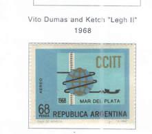 Argentina PA 1968 Vita Dumas    Scott.C 114 New See Scan On Scott.Page - Posta Aerea