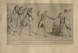 Caricature Contre Charles X Et Le Ministre Polignac - Page Original De 1928 - Documents Historiques