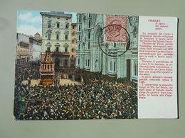 ITALIE TOSCANA FIRENZE FLORENCE IL CARRO DEL SABATO SANTO VOYAGEE LE 20/04/1900 - Firenze