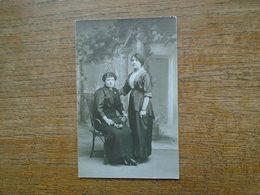 Ancienne Carte Photo Sihouettes De Femmes - Silhouettes
