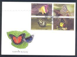 Laos 2003 Cover: Butterfly Schmetterling Mariposa Papillon Farfalla; - Schmetterlinge