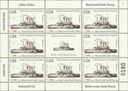 CG 2018-01 WAR SHIP, CRNA GORA MONTENEGRO, MS, MNH - Schiffe