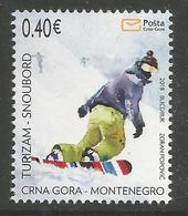 CG 2018-02 TURISAM SNOUBORD, CRNA GORA MONTENEGRO, 1 X 1v, MNH - Montenegro