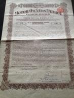 "Action USA - 1915 ""Motors Owners Petrol"" 100 $ - Pétrole"