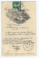 CPA DEPËCHE TELEGRAPHIQUE (liberté - égalité) Cachet 8/1910 - Missions
