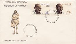 FDC Gandhi (br3322) - Cyprus (Republic)