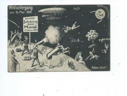 Offizielle Erinnerungskarte An Den Weltuntergang Vom 19.Mai 1910 Geleufen  Vintage Litho Fantasy Fin Du Monde Zeppelin - Astronomia