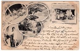 Ceylon 5-pics Card Sent To Sweden 1900 - Sri Lanka (Ceylon)