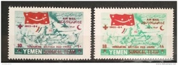 X13 - Yemen Kingdom ROYALIST 1964 SG R44-R45 Complete Set 2v. British Red Cross Surgical Team Cv 35$ - Yemen