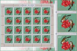 Rwanda 0464** 20c Oiseaux  Feuille / Sheet De 20  MNH - Rwanda