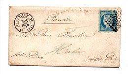 LETTRE . CÉRÈS 25c BLEU . DE MARSEILLE À HABAS . 4 AOÛT 1874 - Réf. N°729T - - 1849-1876: Période Classique