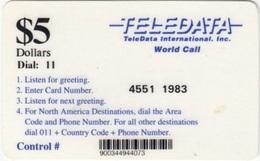 Bosnia - Teledata, Military Card, Used In Bosnia By UN Soldiers, Teledata $5 Dial: 11, Used - Bosnia