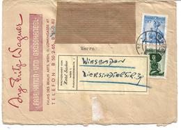 5001p: Brief 1956 Vom Trachtenproduzenten Wagner Wien III., Löwengasse 47 Zum Hotel Sacher, Nachsendevignette RR - Textile