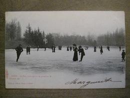 Cpa Gand Gent - Parc - Patinage Sur Le Grand Lac - Edit. Albert Suggs, 1 103 - 1902 - Gent
