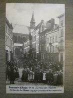 Cpa Alost Aalst - 33 La Rue De L'église - Sortie De La Messe - Edit. Pap. J. Cornélis, 46, Rue Longue De Sel - Aalst