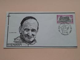 10 Jaar VREDESPRIJS PATER PIRE ( In MEMORIAM : Omslag / Enveloppe ) Stamp KOKSIJDE 5-4-1969 Stempel ! - Belgique