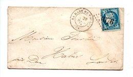 LETTRE . CÉRÈS 20c BLEU . DE MARSEILLE À HABAS - Réf. N°730T - - Postmark Collection (Covers)