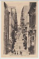 15-Valletta-Malta-Strada S.Lucia-Storia Postale:1/2 D.Giorgio V°-v.1927 X L' Estero:Catania-Italia - Malta