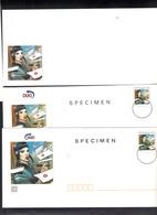 Entiers Enveloppe,carte Assortie,carte Lettre. La Postière Amoureuse .SPECIMEN . - Entiers Postaux