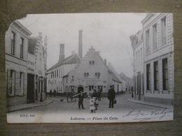 Cpa Lokeren - Place Du Coin - Estaminet Het Brouwerhuis - Calèche Attelage - D.V.D. 9425 - 1903 - Lokeren