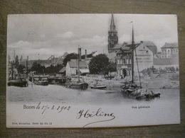 Cpa Boom - Vue Générale - Magasin Kruidenierswaren - Péniches Calèche - Nels Bruxelles 52 11 - 1902 - Boom