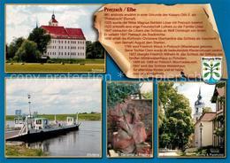 73208756 Pretzsch_Elbe Elbfaehre Schloss Kirche  Pretzsch Elbe - Alemania