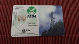 Phonecard Andora Only 10.000 Made  Used Rare - Andorra