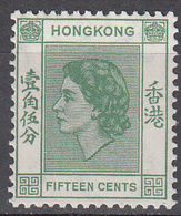 HONG KONG    SCOTT NO. 187      MINT HINGED     YEAR  1954 - Hong Kong (...-1997)