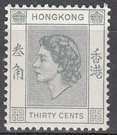 HONG KONG    SCOTT NO. 190      MINT HINGED     YEAR  1954 - Hong Kong (...-1997)