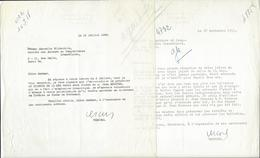 JEAN BRULLER (1902 - 1991) DIT VERCORS AUTOGRAPHE ORIGINAL AUTOGRAPH 2 LS ECRIVAIN /FREE SHIPPING REGISTERED - Autographs