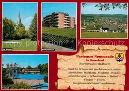73208973 Neuenrade Ev Kirche Altenzentrum Panorama Freibad Neuenrade - Allemagne