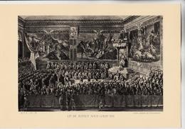 PLANCHE HISTOIRE DU PEUPLE FRANCAIS LIT DE JUSTICE SOUS LOUIS XVI - Technical Plans