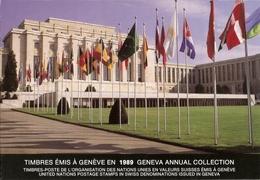 Nations-Unies à Genève - 1989 - Feuillet Des Timbres° émis En 1989 - YT 173/9 -  3 Scans - Office De Genève