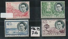Ruanda Urundi  N 196-199 Sans Traces De Charnieres - Ruanda-Urundi