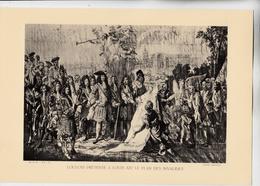 PLANCHE HISTOIRE DU PEUPLE FRANCAIS LOUVOIS PRESENTE  A LOUIS XIV LE PLAN DES INVALIDES - Technical Plans