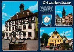 73214453 Ottweiler Altes Rathaus Brunnen Hesse Haus 16. Jhdt. Rathausplatz Turm - Alemania