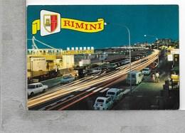 CARTOLINA NV ITALIA - RIMINI - Lungomare - Notturno - 10 X 15 - Rimini