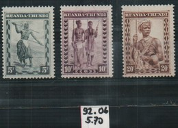 Ruanda Urundi N°92-106 Sans Traces De Charnieres - Ruanda-Urundi