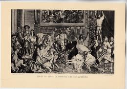 PLANCHE HISTOIRE DU PEUPLE FRANCAIS LOUIS XIV VISITE LA MANUFACTURE DES GOBELINS - Technical Plans