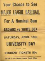 Affiche Original   Major League Baseball  Browns Vs White Sox Année 1950.1955 Environ  Pas Courant Usa - Baseball