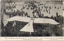 """La Foule Devant Un """"Taube"""" Abattue Par Nos Troupes - Cachet Trésor Et Postes 34 (105663) - Weltkrieg 1914-18"""