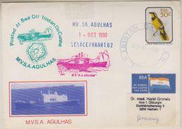 Tristan Da Cunha 1990 M.V. Agulhas 62st Voyage Cover Ca Tristan Da Cunha 3-10-90 (38585) - Tristan Da Cunha
