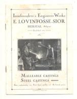 Petit Catalogue Publicitaire - Fonderies E. LOVINFOSSE - SIOR à HERSTAL ( Liège) Moto, Arme,cycle,... (b228) - Advertising