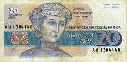 Bulgarie - 20 Leva - 1991 - Alpha АИ 1384140 - P.100 - Circulé - Bulgaria