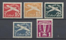 GERMANY DANTZIG 1935 AIR MAIL Nº 30/34 - Danzig