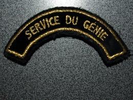 ECUSSON  SERVICE DU GENIE - Ecussons Tissu