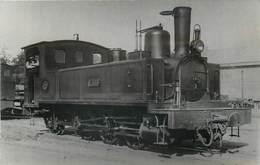 CHEMINS DE FER RÉGION BRETAGNE - Machine E.303 Type 031T (photo Format Carte Ancienne) - Trains