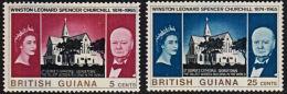 A0600 BRITISH GUIANA 1966,  SG 374-5  Churchill Commemoration,  MNH - Brits-Guiana (...-1966)